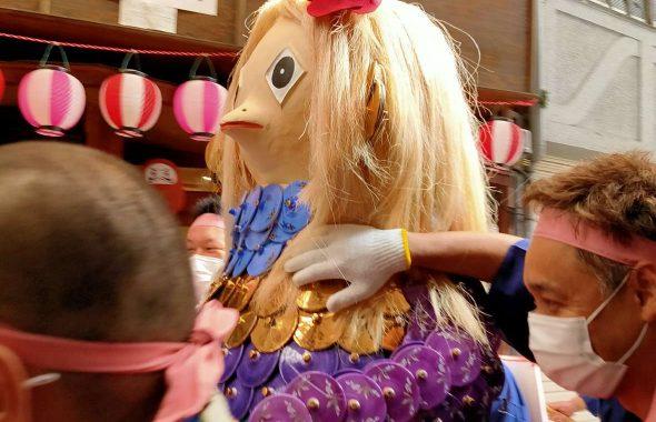 アマビエせともの人形